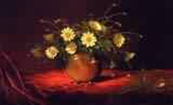 Yellow Daisies in a Bowl 1883 1995jpeg